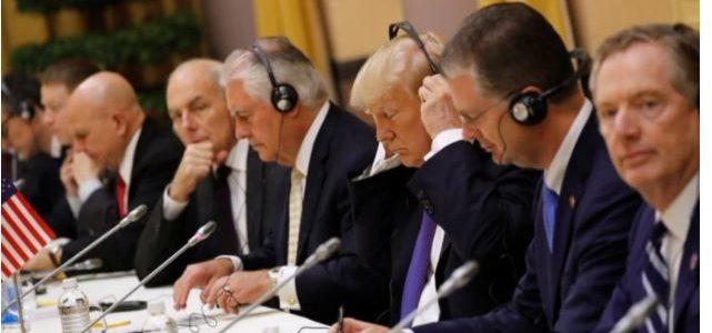 ترامب يهنئ بوتين بالفوز فى الانتخابات ويبحثان قضية سوريا