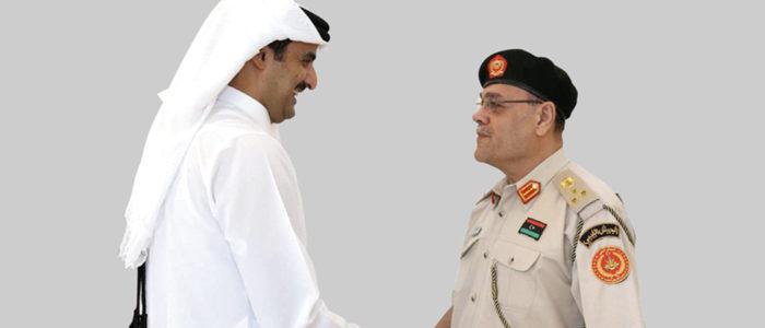 صورة تفضح تمويل قطر لعسكري ليبي هدد بضرب قصر الرئاسة في مصر