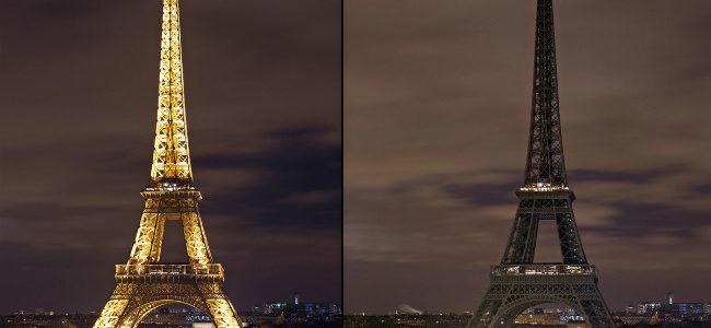 بالصور: فرنسا تطفئ أنوار برج ايفل حدادا على شهداء مسجد الروضة