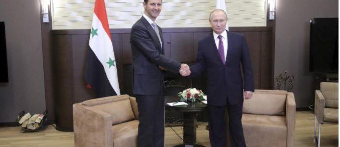 بوتين: انتصار الأسد أمر واقعي