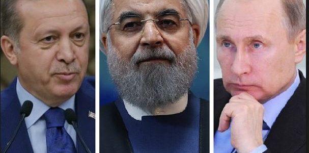 تركيا تختار إيران حليفا..أردوغان يلتقي روحاني تحت إشراف بوتين في روسيا