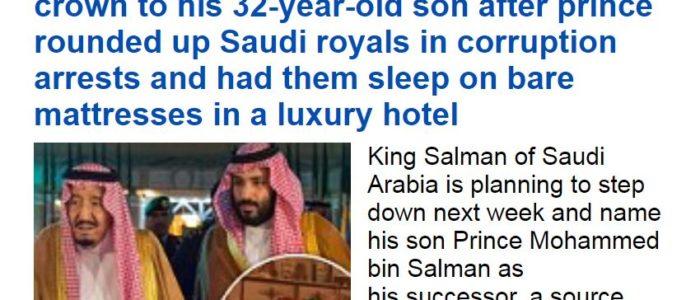صحيفة بريطانية: محمد بن سلمان ملكا للسعودية الأسبوع المقبل..وهذا مصير الملك سلمان ولقبه
