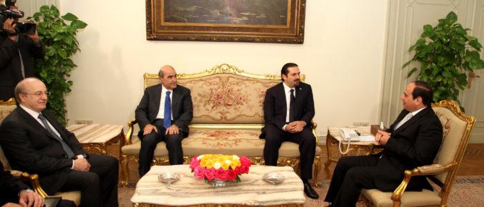 سعد الحريري يلتقي السيسي في القاهرة قبل عودته إلى لبنان