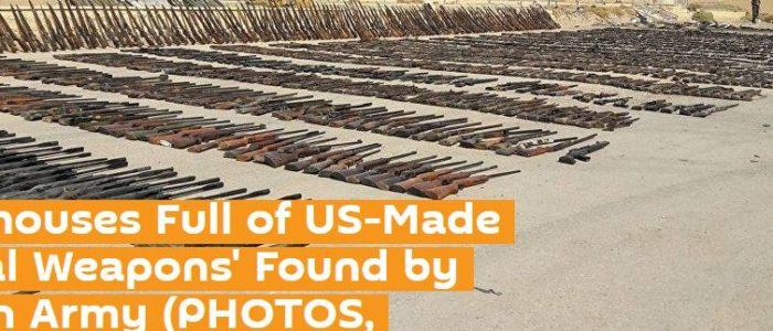 بالصور.. الجيش السوري يعثر علي مخزن لداعش مليء بالأسلحة الأمريكية الفتاكة