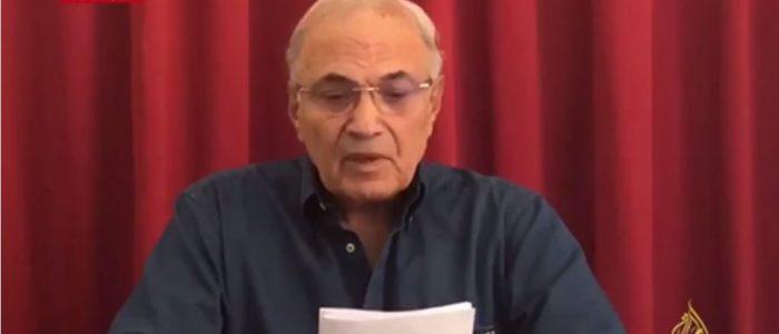 أحمد شفيق يتبرأ من الجزيرة..ويكشف كواليس تسجيل بيانه بهاتف ابنتيه