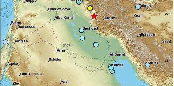بالصور والفيديو: تعرف على مركز زلزال العراق والدول التي ضربها