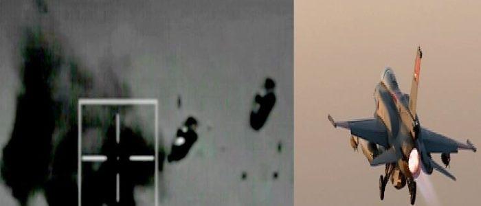 بالفيديو ..شاهد القوات الجوية تدمر 10 سيارات تنقل أسلحة وإرهابيين من ليبيا