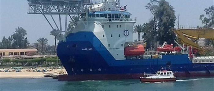 تعرف على السفينة «أحمد فاضل» للخدمات البترولية التي دشنها الرئيس