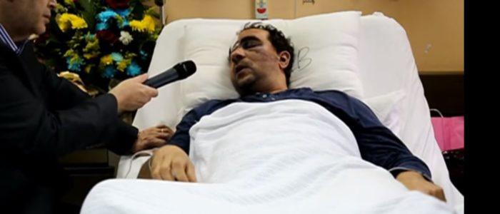 شاهد المصري المضروب في الكويت يتحدث لأول مرة ويكشف ما حدث له..وزيرة الهجرة زارته في المستشفى