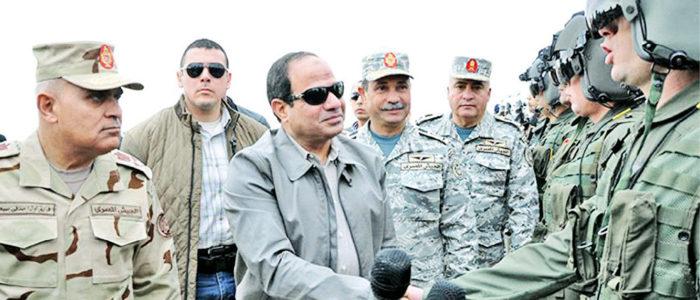 الجيش يعلن قتل 36 إرهابياً وتدمير 386 وكرًا بسيناء