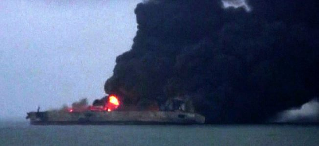 بالفيديو.. استمرار اشتعال النيران في ناقلة نفط إيرانية بالصين وفقدان طاقمها بالكامل