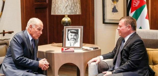 أبو الغيط في الأردن لإجراء مباحثات مع الملك عبد الله الثاني