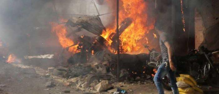 مأساة إنسانية بإدلب.. قتلى في سوق شعبي