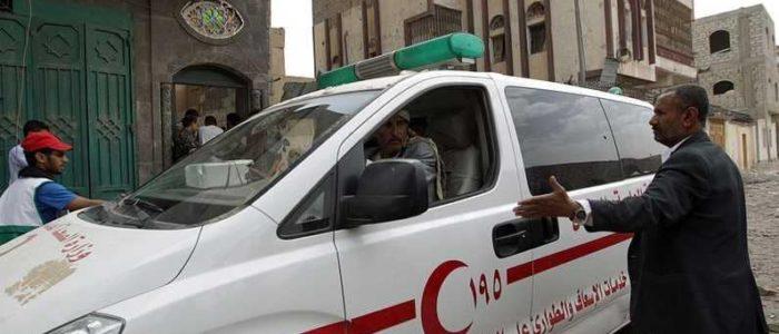 جريمة حوثية بحق طاقم إسعاف باليمن