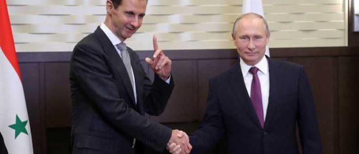 """الأسد يوجه برقية لبوتن.. ويتحدث عن """"الثقة الاستثنائية"""""""