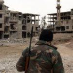 بدء خروج المسلحين من حرستا في الغوطة الشرقية