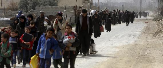 """الأمم المتحدة: الوضع في مراكز إيواء نازحي الغوطة الشرقية """"مأسوي"""""""