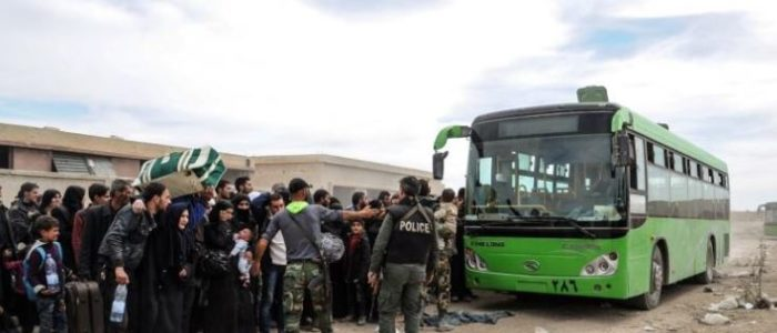 79702 من المدنيين غادروا الغوطة الشرقية في سوريا