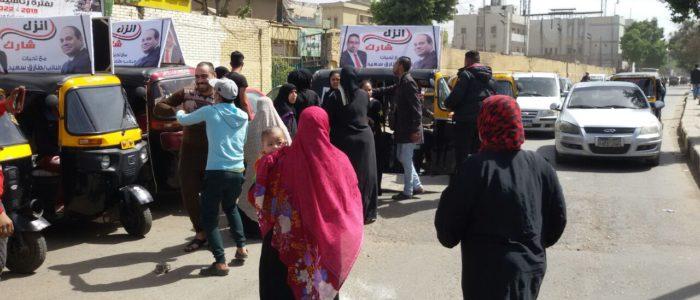 النائب طارق سعيد ينقل الناخبين إلى اللجان الانتخابية بإمبابة