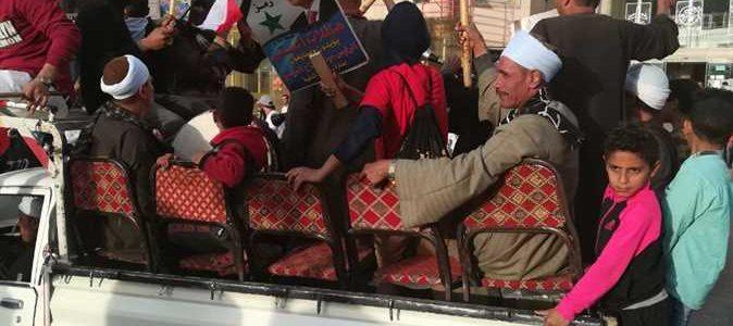مؤيدو السيسي يرقصون في مدينة نصر
