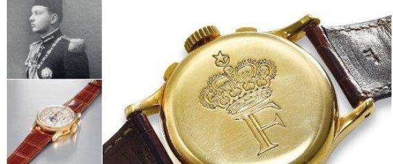 ساعة نادرة للملك فاروق تحمل نقشاً لتاج المملكة المصرية معروضة للبيع