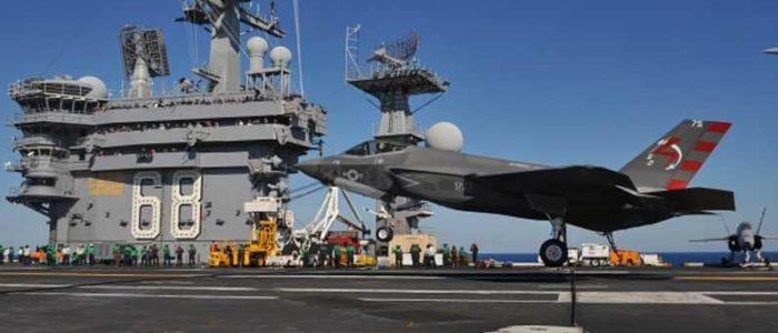 """أمريكا ستشارك بحاملة المقاتلات الشبح """"أف35"""" في المناوارت العسكرية مع كوريا الجنوبية"""