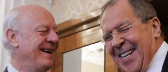محادثات بين لافروف ودي ميستورا في موسكو الخميس