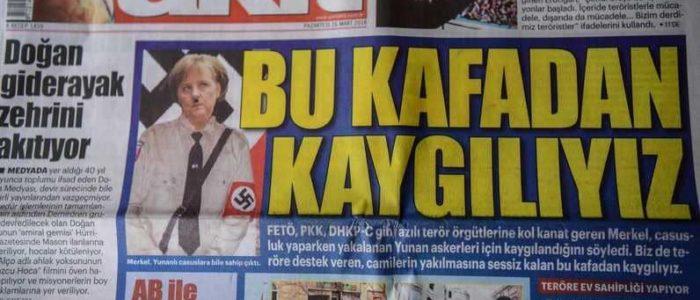 صحيفة موالية لأردوغان تنشر صورة مسيئة لميركل
