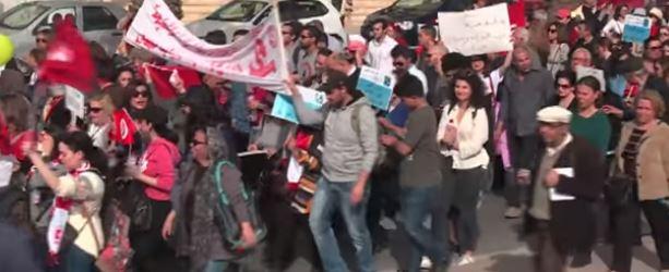 650 ألف موظف تونسي يبدأون إضرابا عاما بعد تجميد الحكومة زيادة الأجور