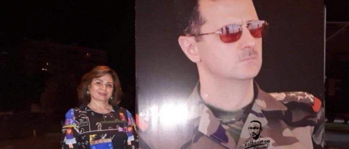 """إلهام شاهين في سوريا للمرة الثالثة خلال أشهر.. تبارك """"النصر"""" للأسد"""
