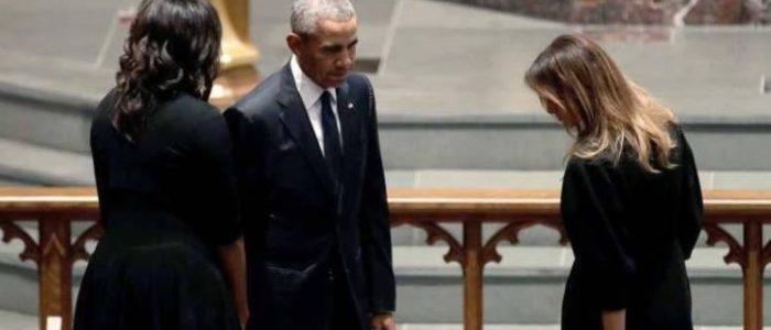 سيدات البيت الأبيض السابقات في وداع باربرا بوش
