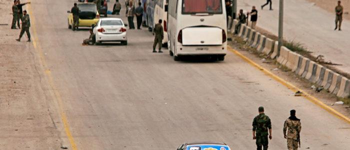 خروج 3200 مسلح وعائلاتهم من القلمون الشرقي باتجاه جرابلس وإدلب