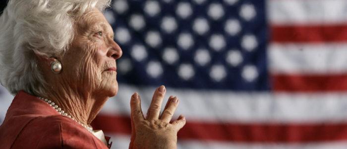 """""""مطعم سوري"""" هو المفضل لدي زوجة الرئيس الأمريكي الأسبق.. كيف غيَّرت باربرا بوش حياة الشيف فوزي؟"""