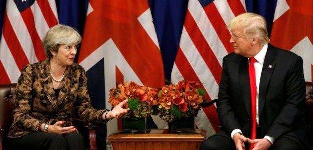 ماي ستحث ترامب على تفادي احتجاجات لندن خلال زيارته لبريطانيا