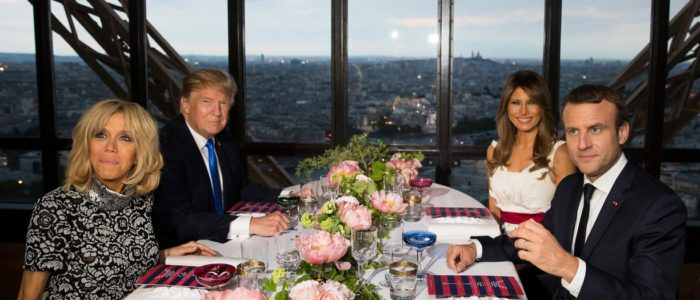 ميلانيا ترامب تحتفي بماكرون وزوجته بمأدبة عشاء من مأكولات نيو أورليانز