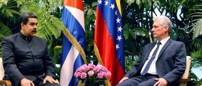 رئيس فنزويلا يزور الزعيم الكوبي الجديد