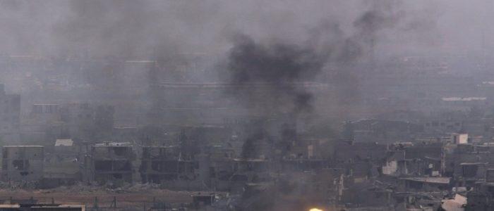 بالفيديو..  قصف مواقع الجيش السوري في ريفي حماة وحلب