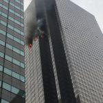 بالفيديو.. حريق في برج ترامب