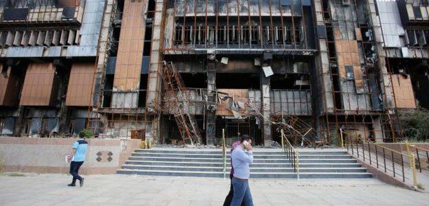 التليجراف:محاولات لبناء مكتبة جامعة الموصل بعد حرق داعش لها