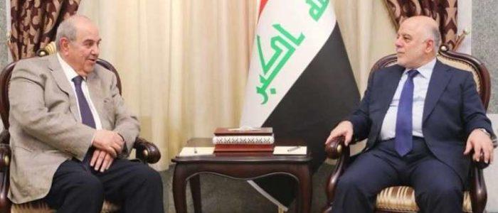 العبادي وعلاوي يناقشان تشكيل الحكومة العراقية المقبلة