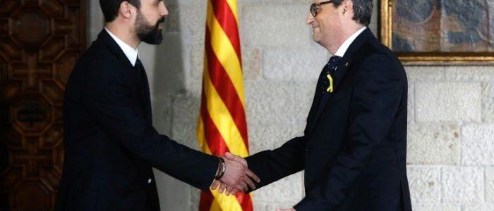 الرئيس الكتالوني الجديد يرفض ان يقسم بالولاء للدستور