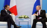 بوتين يبحث مسألتي إيران وسوريا مع ماكرون على هامش منتدى بطرسبوج