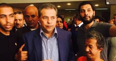 إخلاء سبيل توفيق عكاشة من قسم مدينة نصر بعد وقف تنفيذ حبسه