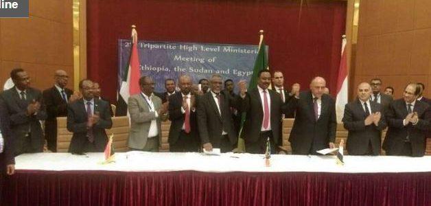مصر والسودان وإثيوبيا يوافقون علي دراسة ملء سد النهضة