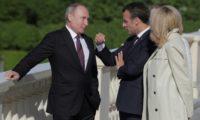 ماكرون يتطلع الى مبادرات مشتركة مع بوتين حول ايران وسوريا واوكرانيا