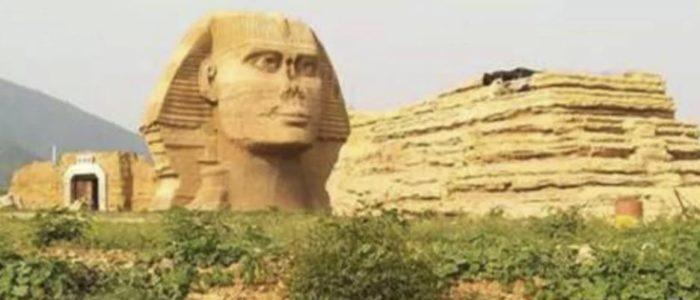 """النسخة الصينية المقلدة لتمثال """"أبو الهول"""" تغضب مصر"""
