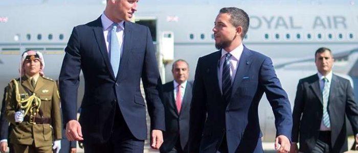 الأمير وليام يصل الأردن
