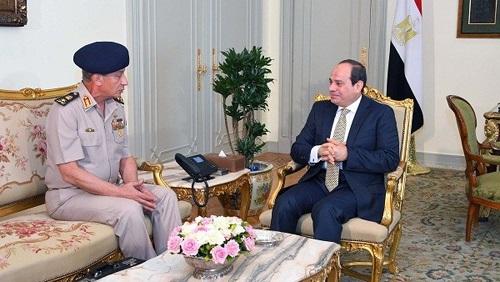 الرئيس عبدالفتاح السيسي يستقبل وزير الدفاع