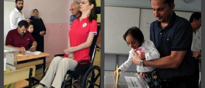 أكبر معمرة وأقصر فتاة وأطول امرأة صوتن في الإنتخابات التركية