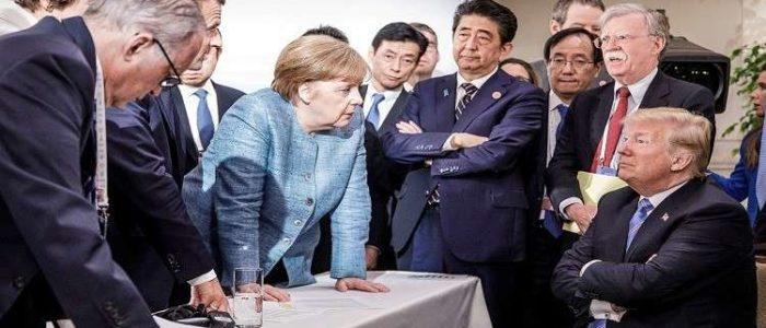 صورة تلخص اجتماع قادة مجموعة الدول السبع